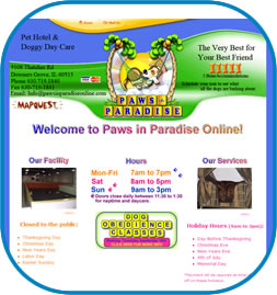 Paws in Paradise Website Screenshot
